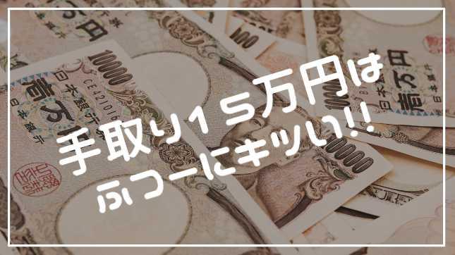 贅沢 手取り15万円の正社員だった私が思うこと 一人暮らしもできる 好きに生きさせろドットコム